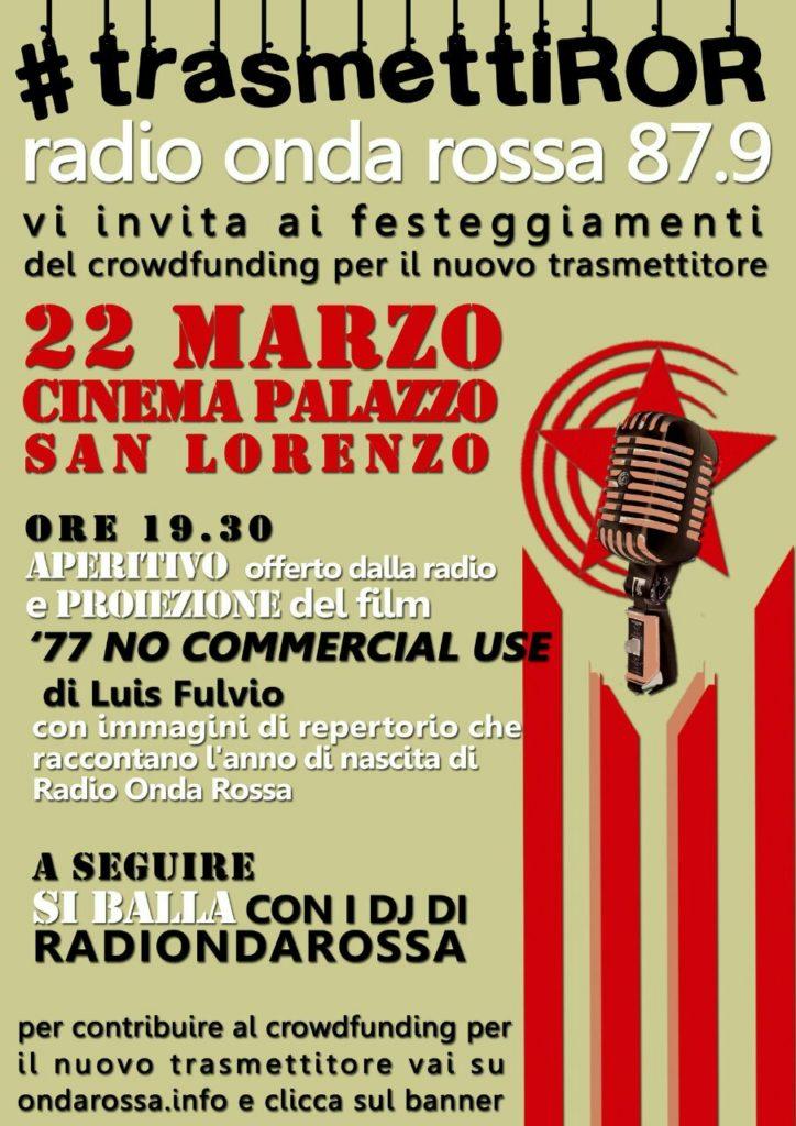 Festa per il crowdfunding di radio onda rossa dinamopress for Onda memory mondo convenienza opinioni